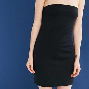 Urban Outfitters Strapless Dress Black